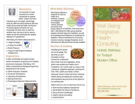 wellness brochure veda health