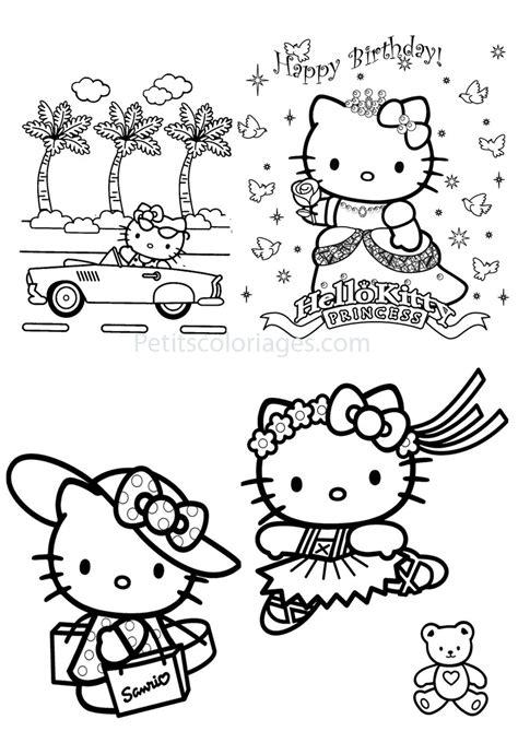 20 dessins de coloriage Hello Kitty Danseuse à imprimer