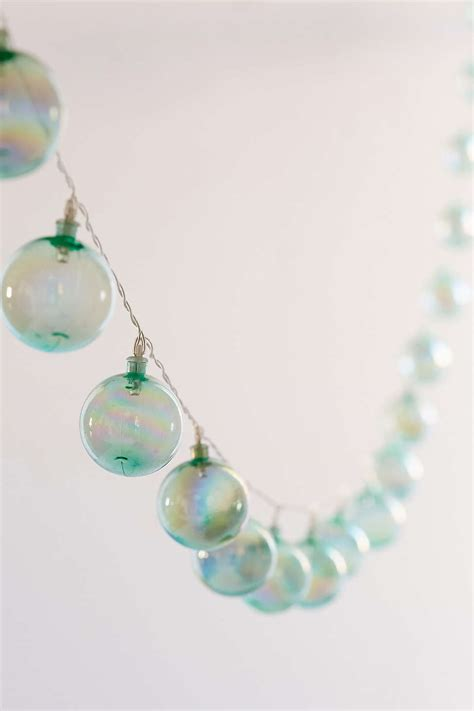 Turquoise Iridescent Bubble String Lights Everything Turquoise Lights