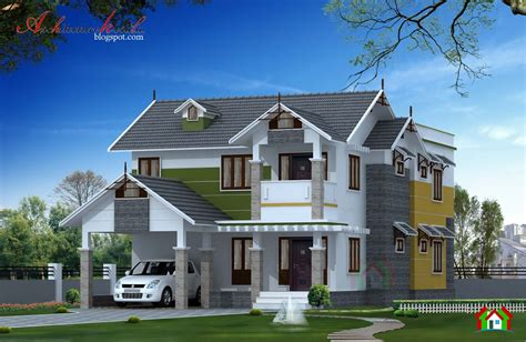 2400 square kerala home elevation architecture kerala
