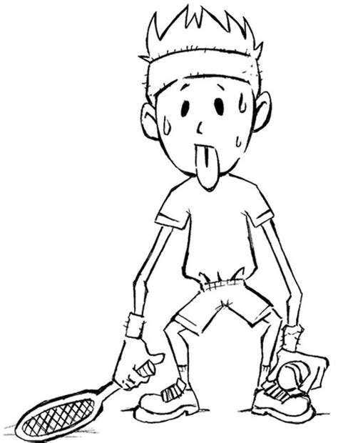 imagenes sudando desenho de esporte para colorir desenhos infantil