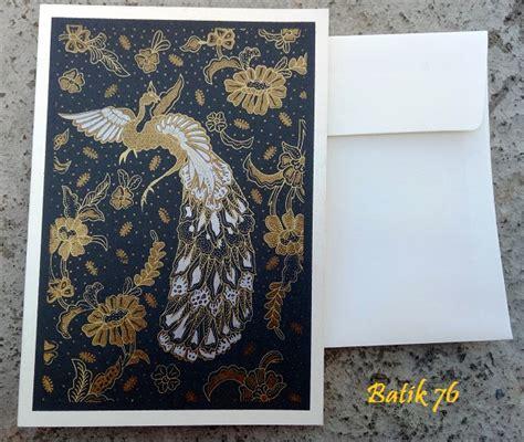 Kartu Ucapan Handmade Batik76 Motif 1 jual kartu ucapan handmade motif merak size l kartu ucapan batik kartu ucapan ulang tahun