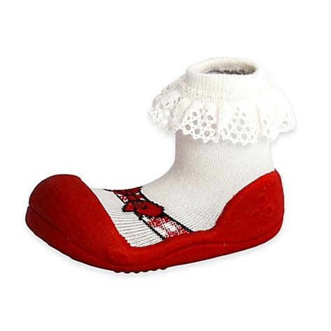 Attipas Ribbon M attipas 174 ballet style infant and toddler shoe in bed bath beyond