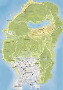 Gta 5 map grand theft auto v los santos maps