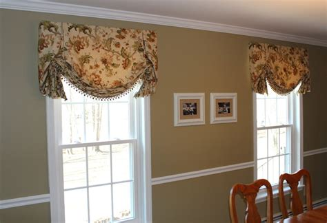dining room valances valances top treatments traditional dining room