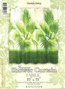hawaiian tropical fabric shower curtain fan palm