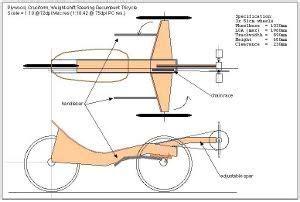 wooden bike plans    wood recumbent