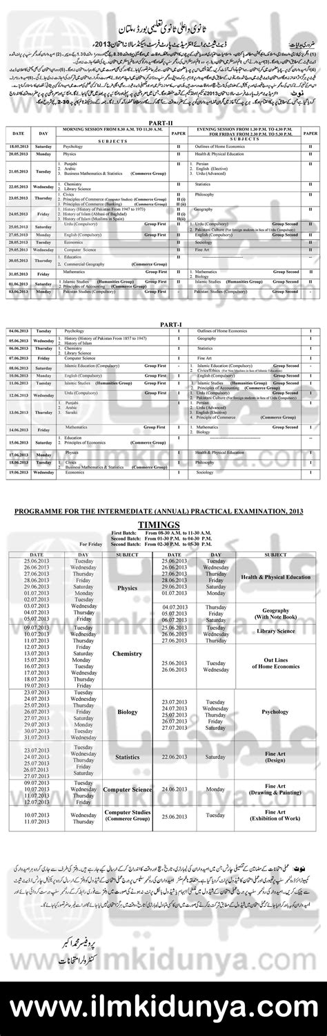 paper pattern 1st year 2015 gujranwala board date sheet of 8th class 2014 math paper new date of 8th