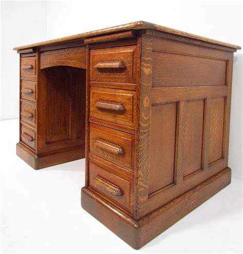 solid oak desk antique 1920 s solid oak pedestal desk ebay