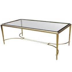 brass coffee table vintage glass and brass coffee table at 1stdibs