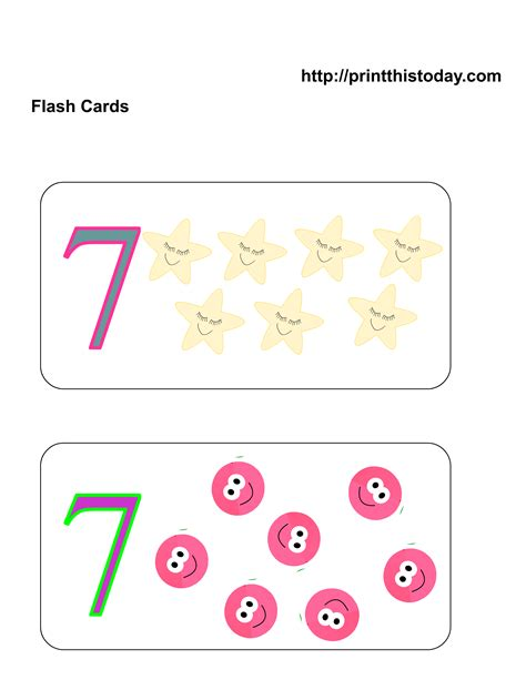 printable math number cards free printable number flashcards english corner free