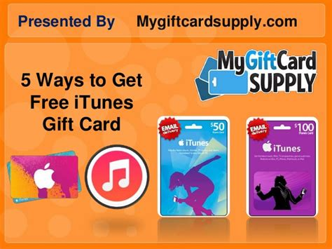 Get Free Itunes Gift Cards - 5 ways to get free itunes gift card mygiftcardsupply