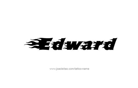 Tattoo Name Edward | edward name tattoo designs
