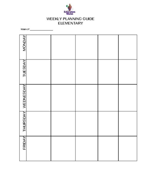 Galerry free printable lesson plan templates for elementary teachers
