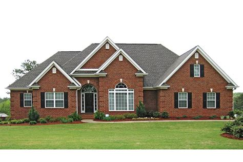 brick home floor plans traditional brick ranch hwbdo63914 new american from