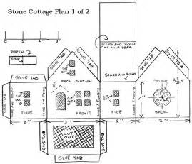 out of plan template cardboard house patterns printing the plans we ve