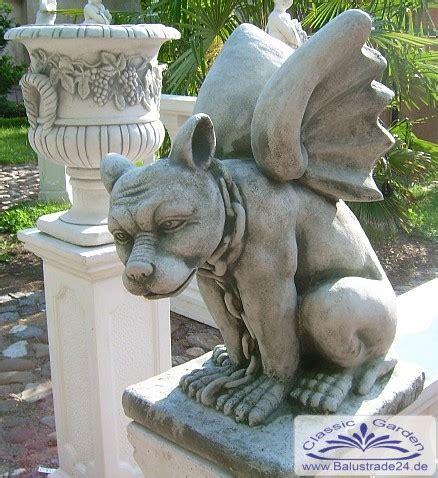Säulen Aus Gips by Gartenfigur Drache Gargoyle Hund Mit Fl 252 Gel Statue