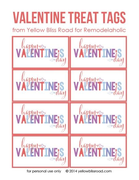 printable valentines tags colorful printable s treat tags best of