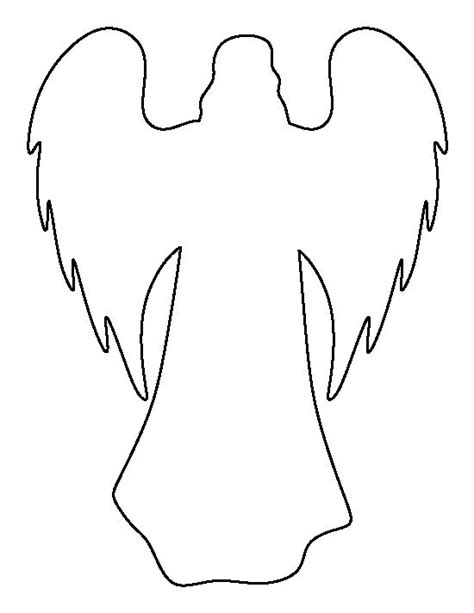 angel wing templates printable clipart best