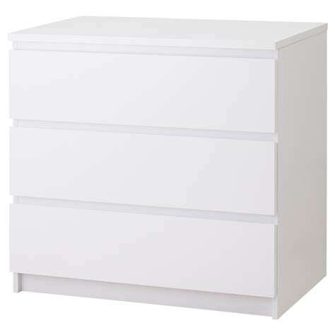 malm chest of 3 drawers white high gloss 80x78 cm ikea