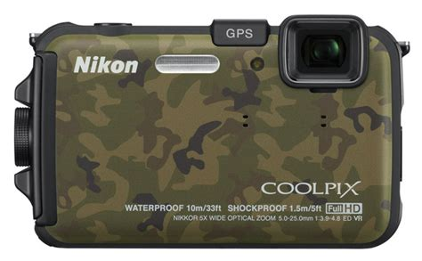 Kamera Underwater Nikon Aw100 nikon coolpix aw100 waterproof camouflage 171 out of