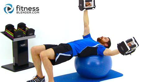 Dumbbell Fitness functional strength workout with
