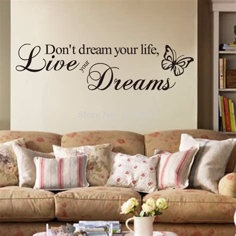 stickers on your wall kopen wholesale schoonheid quotes uit china