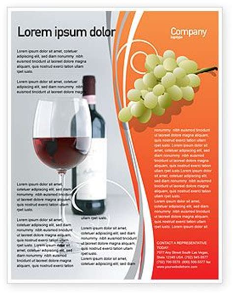 wine brochure template 58 best images about flyer templates on tennis