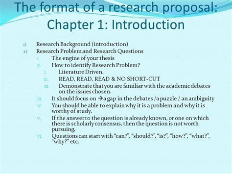 chapter layout research proposal writing a research proposal ppt video online download