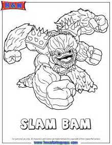 skylander coloring pages skylanders giants water series2 slam bam coloring page h