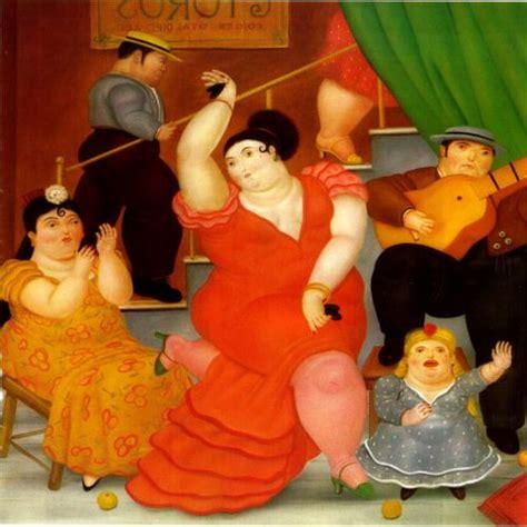 cuadro botero cuadro de botero tablao flamenco y gitana bailando