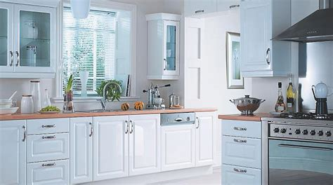 White Gloss Kitchen Door Fronts Cabinet Doors Kitchen Cabinets Kitchen Rooms Diy At B Q