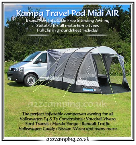 pump up awnings 2016 kamap travel pod midi air inflatable cervan awning