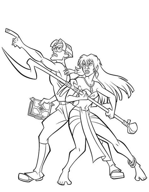 princess kida coloring page atlantis the lost empire couple milo and kida coloring