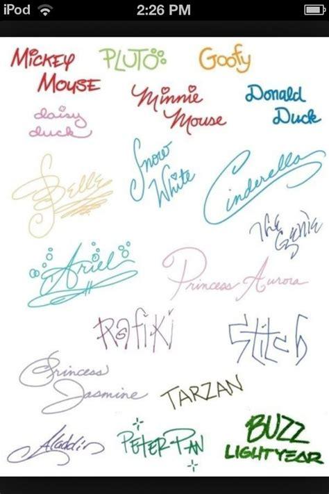 disney signatures cute n what not pinterest