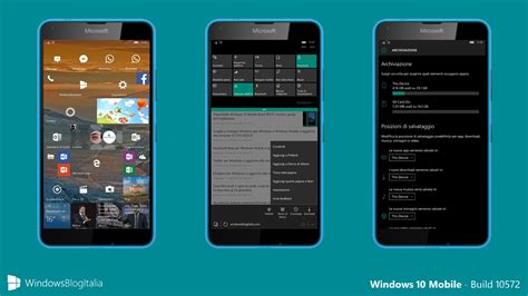 italiano mobile tour in italiano di windows 10 mobile build 10572