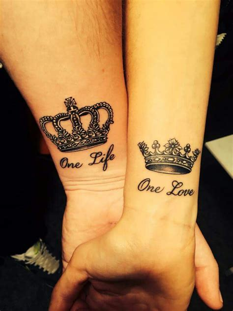 crown tattoos for couples pin by dziedzicoofka on tatoo