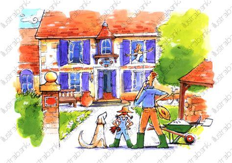 1291993258 la maison de mes reves la maison de mes r 234 ves illustration libre de droit sur
