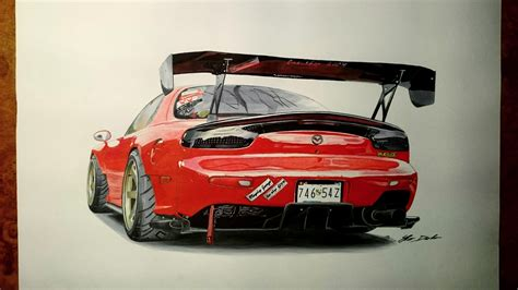 mazda hours mazda rx 7 7 hours of work fb page car drawings by iker