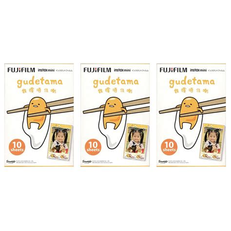 Refill Kamera Instax Mini Gudetama 10 3 packs sanrio gudetama egg fujifilm instax mini 30