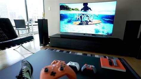 living room tv setups the ultimate 4k tv setup tech living room tour 2017