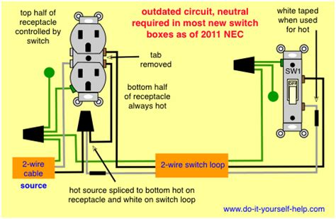 combination switch wiring diagram for wall get free