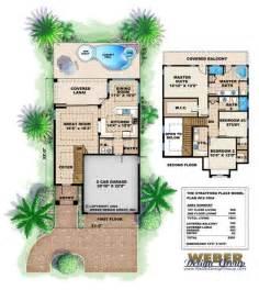 Narrow house plan stratford place house plan weber design group
