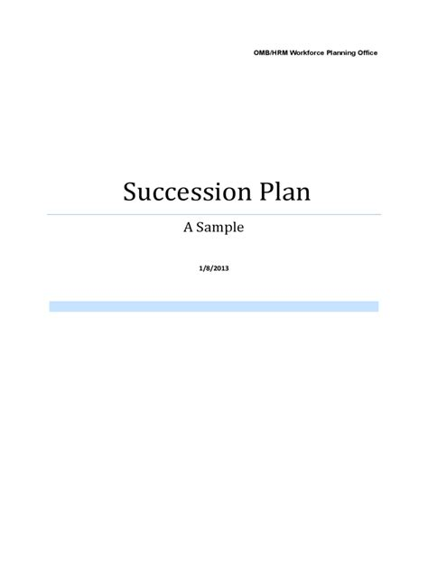 succession planning 5 free templates in pdf word excel