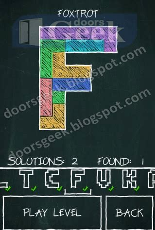 how to do foxtrot on doodle fit doodle fit letter s pack foxrot doors