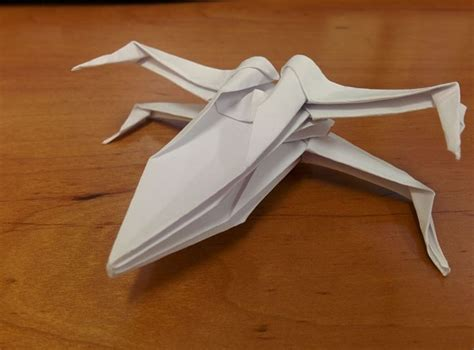 origami starfighter how to fold an origami wars x wing starfighter