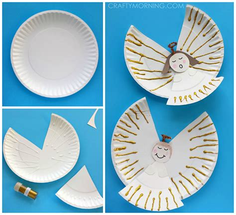 How To Make Paper Plate Crafts - paper plate crafts for crafty morning