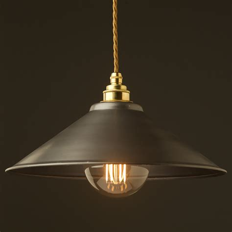 Rustic Light Pendants Rustic Steel Light Shade 310mm Pendant
