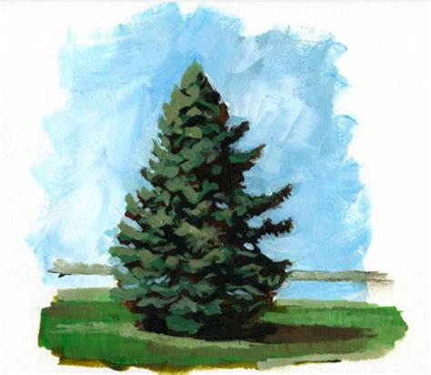 acrylic painting evergreen trees painting a pine tree in acrylics learn it make it on