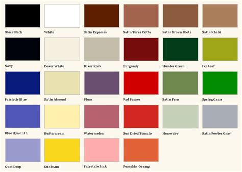 rust oleum enamel paint color charts pilotproject org